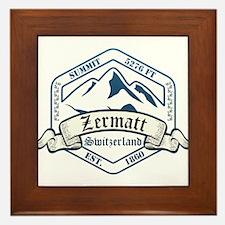 Zermatt Ski Resort Switzerland Framed Tile