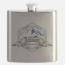 Zermatt Ski Resort Switzerland Flask