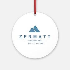 Zermatt Ski Resort Switzerland Ornament (Round)