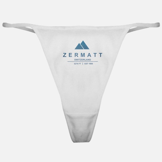 Zermatt Ski Resort Switzerland Classic Thong
