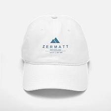 Zermatt Ski Resort Switzerland Baseball Baseball Baseball Cap
