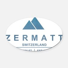 Zermatt Ski Resort Switzerland Oval Car Magnet