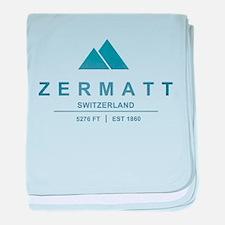 Zermatt Ski Resort Switzerland baby blanket