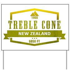 Treble Cone Ski Resort New Zealand Yard Sign