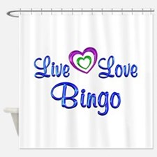 Live Love Bingo Shower Curtain