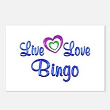 Live Love Bingo Postcards (Package of 8)