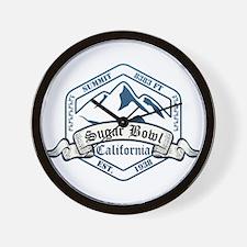 Sugar Bowl Ski Resort California Wall Clock