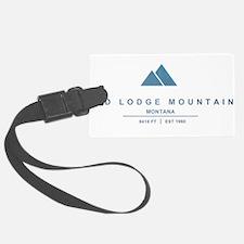 Red Lodge Mountain Ski Resort Montana Luggage Tag