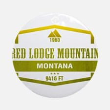 Red Lodge Mountain Ski Resort Montana Ornament (Ro