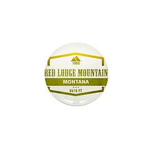Red Lodge Mountain Ski Resort Montana Mini Button