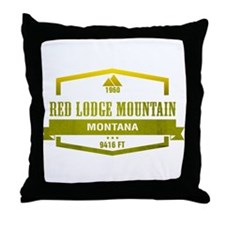 Red Lodge Mountain Ski Resort Montana Throw Pillow