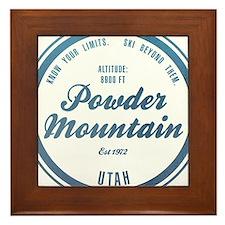 Powder Mountain Ski Resort Utah Framed Tile