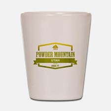 Powder Mountain Ski Resort Utah Shot Glass