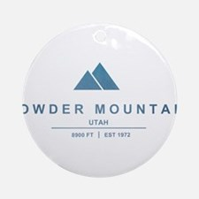 Powder Mountain Ski Resort Utah Ornament (Round)