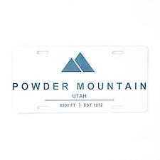 Powder Mountain Ski Resort Utah Aluminum License P