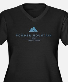 Powder Mountain Ski Resort Utah Plus Size T-Shirt