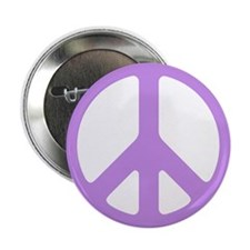 Lavender Peace Sign Button