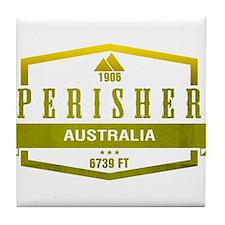 Perisher Ski Resort Australia Tile Coaster