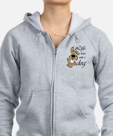 Life is Better With a Dog Zip Hoodie