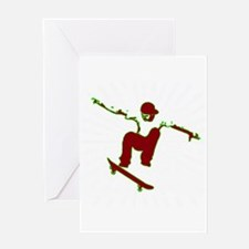 Skateboarder Greeting Cards