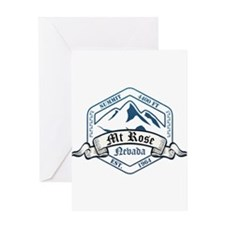 MT Rose Ski Resort Nevada Greeting Cards