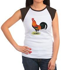 Red Junglefowl Rooster Women's Cap Sleeve T-Shirt