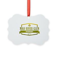 Mad River Glen Ski Resort Vermont Ornament