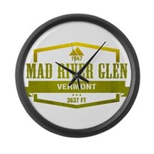 Mad River Glen Ski Resort Vermont Large Wall Clock