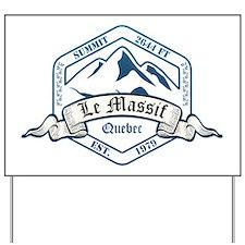 Le Massif Ski Resort Quebec Yard Sign