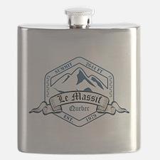 Le Massif Ski Resort Quebec Flask