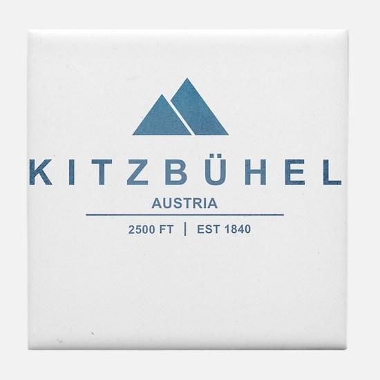 Kitzbuhel Ski Resort Austria Tile Coaster