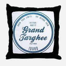 Grand Targhee Ski Resort Idaho Throw Pillow