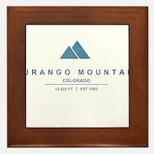 Durango Mountain Ski Resort Colorado Framed Tile