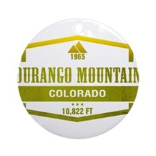 Durango Mountain Ski Resort Colorado Ornament (Rou