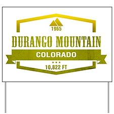 Durango Mountain Ski Resort Colorado Yard Sign