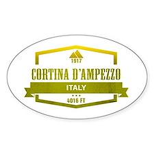 Cortina D Ampezzo Ski Resort Italy Decal