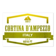 Cortina D Ampezzo Ski Resort Italy Postcards (Pack