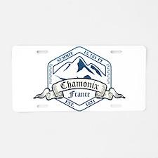 Chamonix Ski Resort France Aluminum License Plate