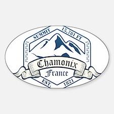 Chamonix Ski Resort France Decal