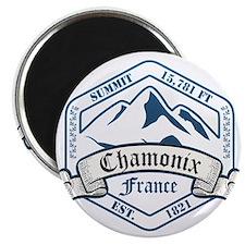 Chamonix Ski Resort France Magnets