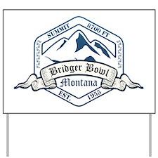 Bridger Bowl Ski Resort Montana Yard Sign