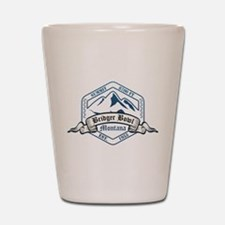 Bridger Bowl Ski Resort Montana Shot Glass