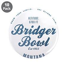 """Bridger Bowl Ski Resort Montana 3.5"""" Button (10 pa"""