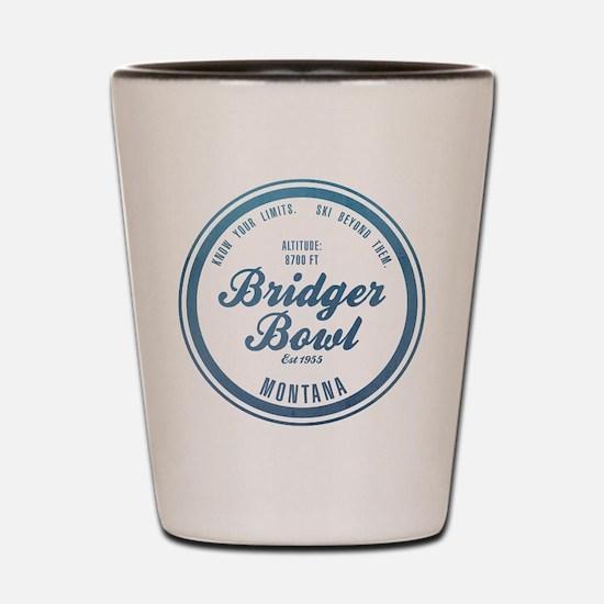 Bridger Bowl Ski Resort Montana Shot Glass