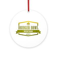 Bridger Bowl Ski Resort Montana Ornament (Round)