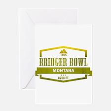 Bridger Bowl Ski Resort Montana Greeting Cards