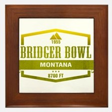 Bridger Bowl Ski Resort Montana Framed Tile