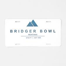 Bridger Bowl Ski Resort Montana Aluminum License P