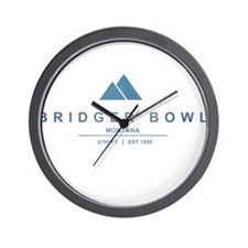 Bridger Bowl Ski Resort Montana Wall Clock