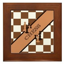Chess Pennant Framed Tile